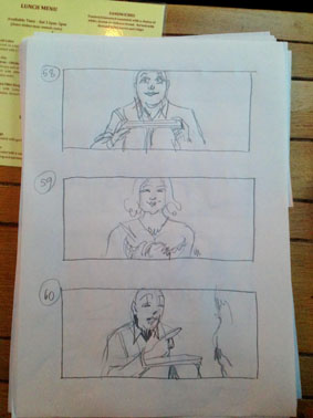 His Heavy Heart storyboards